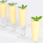 pinterest image for mango smoothie shots with rum by FamilySpice.com
