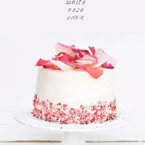 A White Rose Cake for Spring by FamilySpice.com