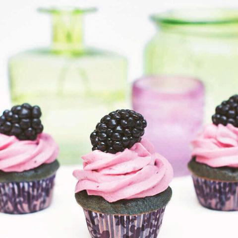 Blackberry and Honey Cupcakes.