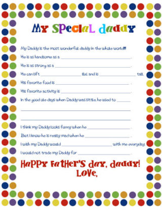 Father's Day Worksheet