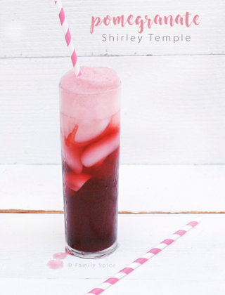 Celebrate life's special moments with this twist to a childhood classic mocktail: The Pomegranate Shirley Temple! ---FamilySpice.com