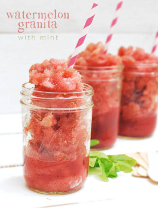 Watermelon Granita with Mint and Watermelon Crafts!
