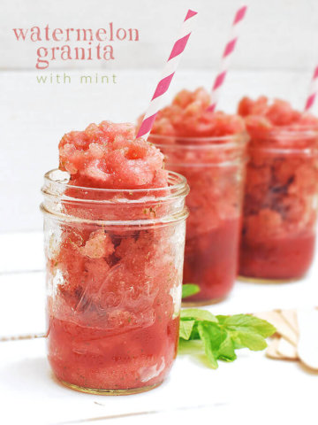 Watermelon Granita with Mint by FamilySpice.com