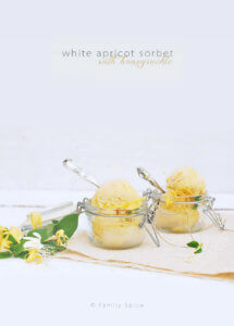 White Apricot Sorbet with Honeysuckle by FamilySpice.com (Angelcot Sorbet)