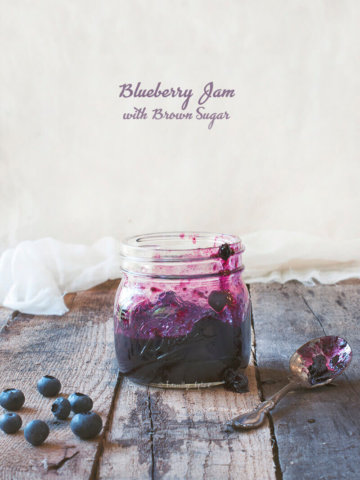 Homemade Blueberry Jam with Brown Sugar by FamilySpice.com