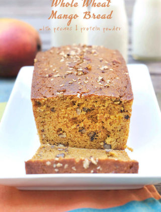 Back-To-School Eats: Whole Wheat Mango Bread with Protein Powder and Pecans