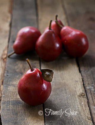 Autumn's Bounty: Fresh Red Pears
