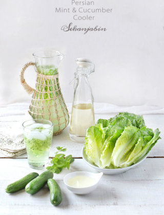Persian Mint & Cucumber Cooler (Sekanjabin) for #SundaySupper