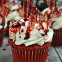 Bloody Halloween Cupcakes