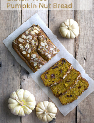Unprocessed and Gluten Free Pumpkin Bread