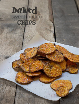 Eat #Unprocessed with Baked Sweet Potato Chips