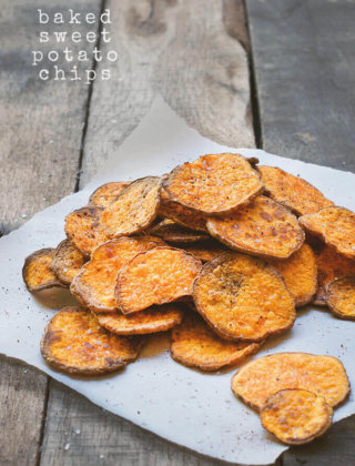 Eat #Unprocessed with Baked Sweet Potato Chips by FamilySpice.com