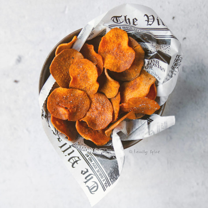 Baked Sweet Potato Chips Family Spice