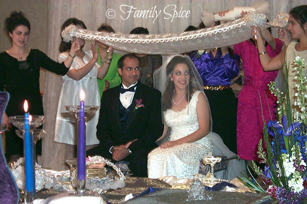 The Persian Wedding Ceremony with Bride and Groom by FamilySpice.com