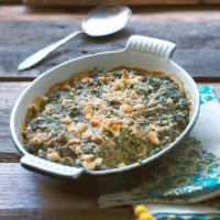 Creamed Spinach with Swiss Chard and Beet Greens