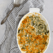 pinterest image for creamed spinach
