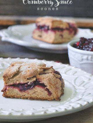 Leftover Cranberry Sauce Scones
