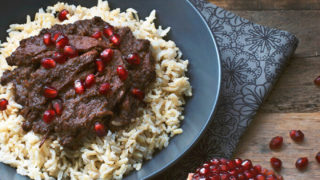 Fesenjoon: Persian Pomegranate and Walnut Stew (khoresh fesenjan)