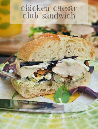 Ina Garten's Chicken Caesar Club Sandwich