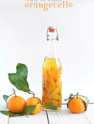 How to make Orangecello - Orange Infused Vodka by FamilySpice.com