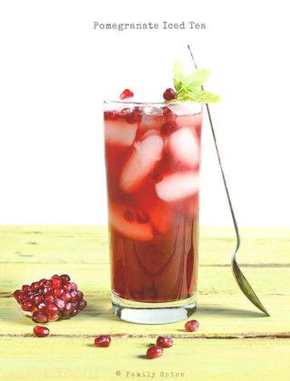 Pomegranate Iced Tea by FamilySpice.com