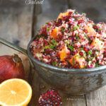 Cranberry Quinoa Salad with Orange, Mint and Kale by FamilySpice.com