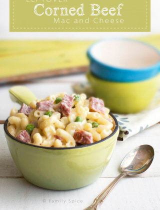 Leftover Corned Beef Mac and Cheese by FamilySpice.com
