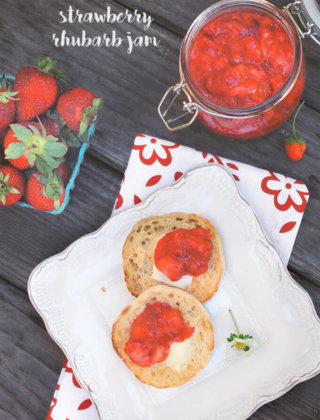 Strawberry Rhubarb Jam by FamilySpice.com