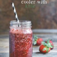 Pomegranate Strawberry Drink with Kale