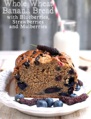 Adventures with Long Mulberries and Whole Wheat Banana Bread
