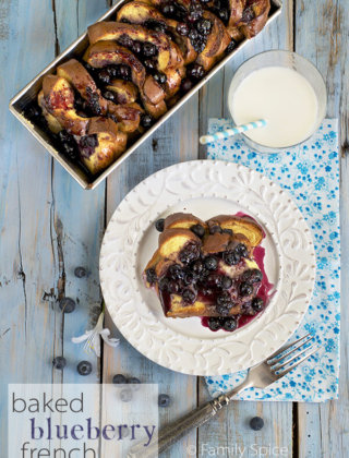 Baked French Toast with a Whole Lotta Blueberries