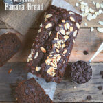 Skinny Whole Wheat Chocolate Almond Banana Bread by FamilySpice.com