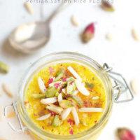 Persian Saffron Rice Pudding (Sholeh Zard)
