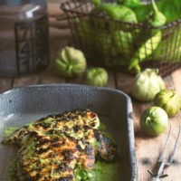 Grilled Hatch Chile Verde with Chicken