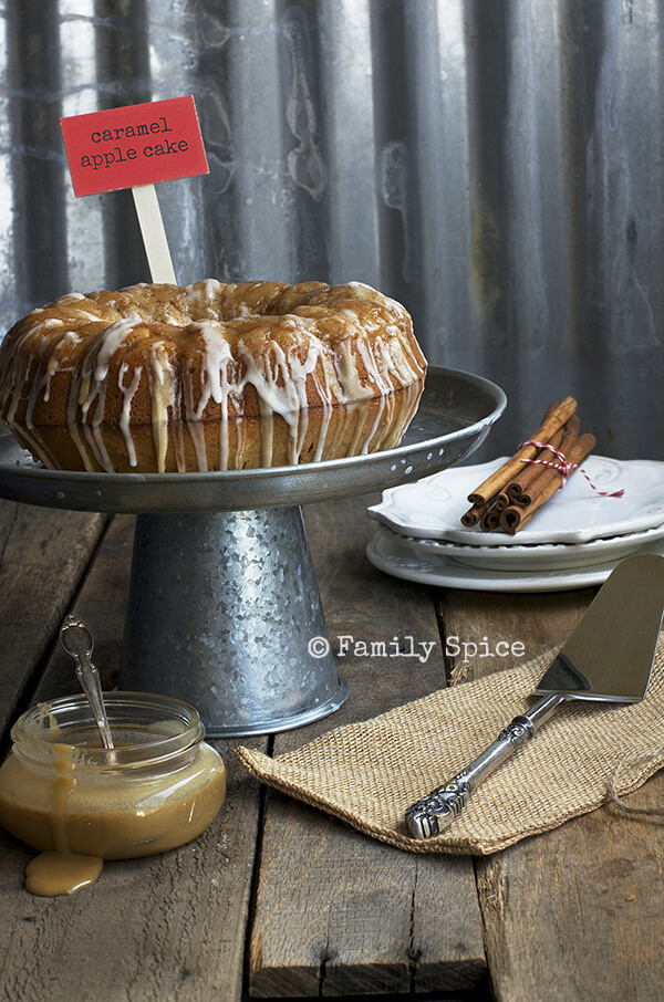 Caramel Apple Bundt Cake by FamilySpice.com