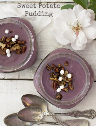 Thanksgiving Dessert: Purple Sweet Potato Pudding