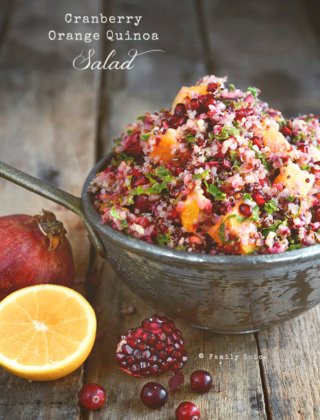 Easy Thanksgiving Meals: Cranberry Orange Quinoa Salad