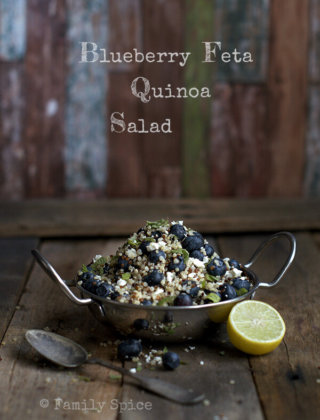 Eating Fresh: Blueberry Feta Quinoa Salad