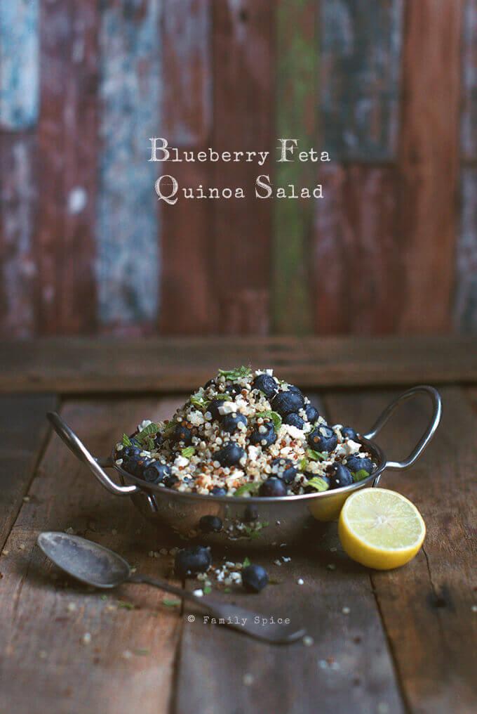 Blueberry Feta Quinoa Salad by FamilySpice.com