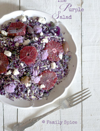 Eat the Rainbow: The Purple Salad