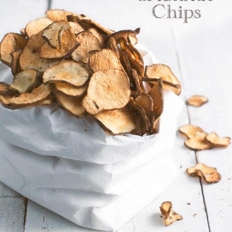 Low Carb Snack: Baked Jerusalem Artichoke Chips by FamilySpice.com