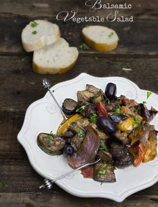 Roasted Balsamic Vegetable Salad by FamilySpice.com