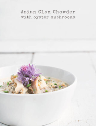 Asian Clam Chowder with Oyster Mushrooms by FamilySpice.com