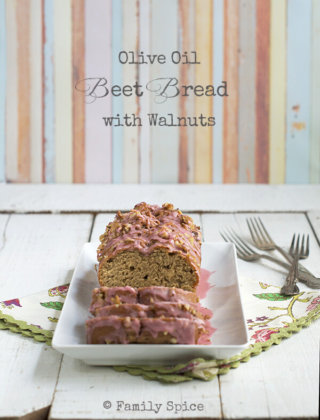 Olive Oil Beet Bread with Walnuts {Giveaway}