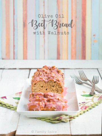 Olive Oil Beet Bread with Walnuts by FamilySpice.com