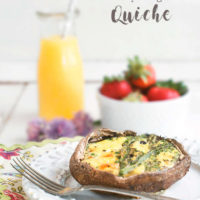 Low Carb Portobello and Asparagus Quiche