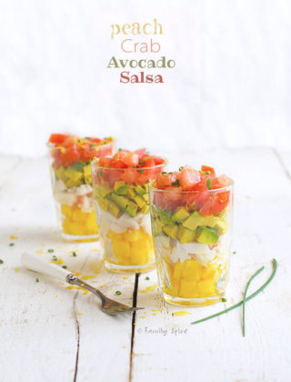 Peach, Crab and Avocado Salsa by FamilySpice.com