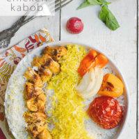 Persian Chicken Kabob (Joojeh Kabob or Kabob-eh Morgh)
