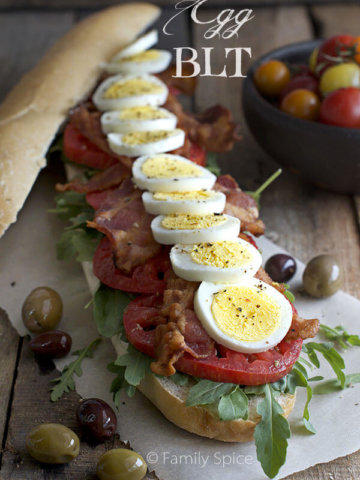 The Egg BLT by FamilySpice.com