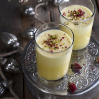 Eggnog with Saffron and Rosewater